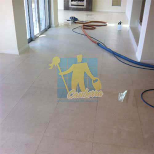 while cleaning limestone floor tiles