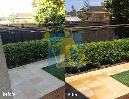 sandstone floor after professional cleaning by tile cleaners Canberra