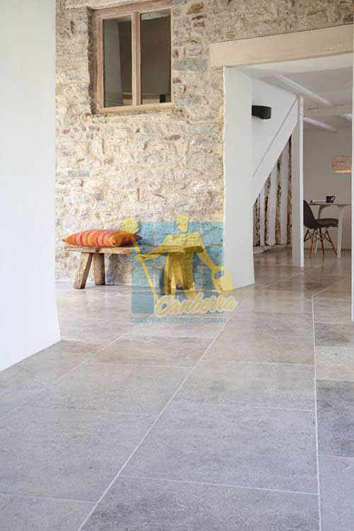 Grey shiny polished Limestone floor