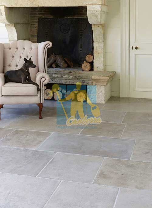 soft grey honed limestone with a look of a traditional antique stone floor