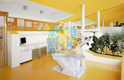 dental clinic yellow vinyl floor Canberra