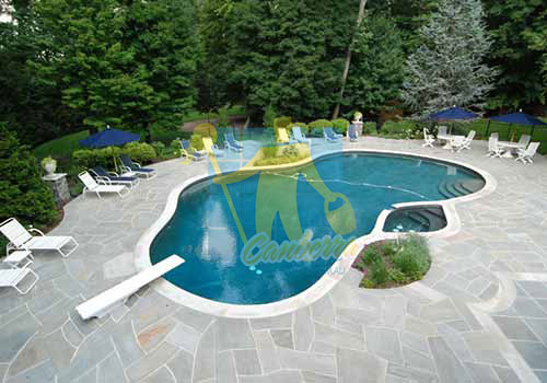 slate outdoor swimming pool