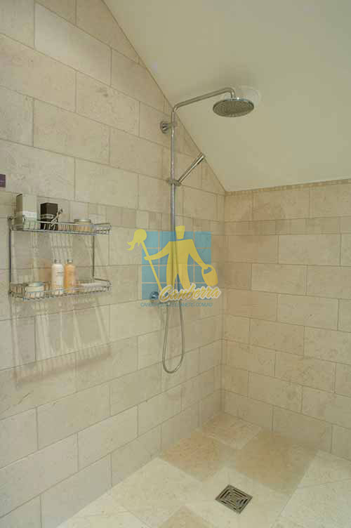 marble tile tumbled acru bathroom shower