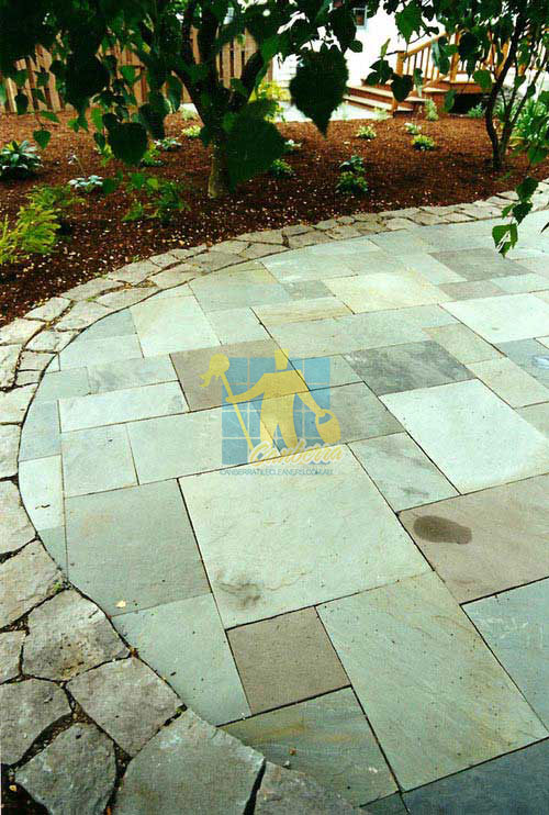 Jerrabomberra stone tiles outdoor patio border no grout