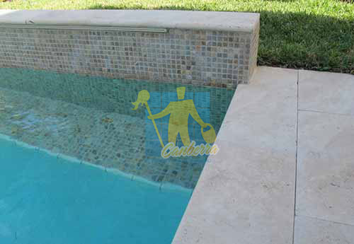outdoor travertine tiles modern pool patio cleaning