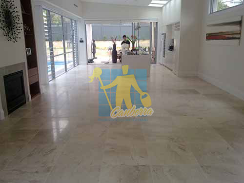 travertine tiles in large empty living room large tiles after cleaning